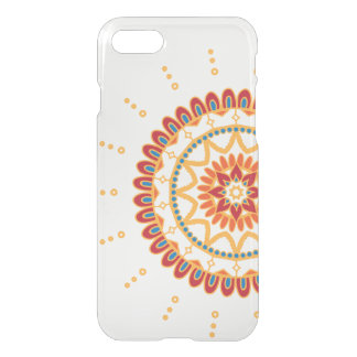 Vibrant Golden Sun and Floral Mandala iPhone 8/7 Case