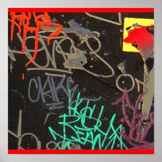 vibrant grafitti print