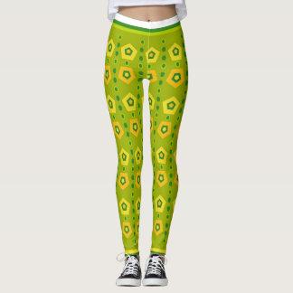 Vibrant green color Yoga legging