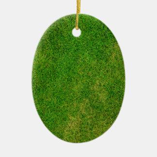 Vibrant Green Grass Christmas Tree Ornament