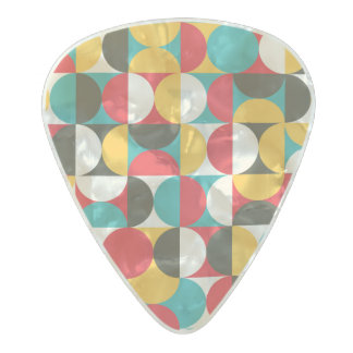 Vibrant Half Circle pattern Pearl Celluloid Guitar Pick