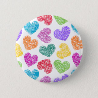 Vibrant hearts Button