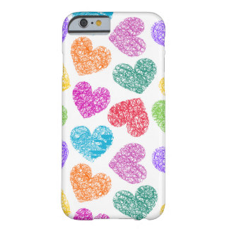 Vibrant hearts iPhone 6 case Barely There iPhone 6 Case