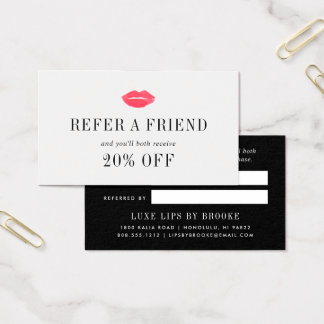 Vibrant Kiss | Beauty Business Referral Business Card