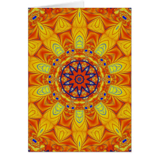 Vibrant Lace Greeting Card