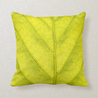 Vibrant Leaf Texture Cushion
