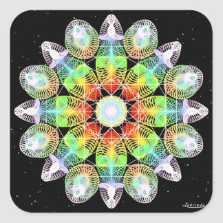 Vibrant Life Square Sticker
