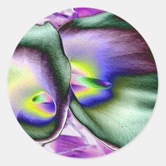 Vibrant Lilies Classic Round Sticker