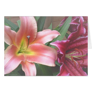 Vibrant Lily Duo Card