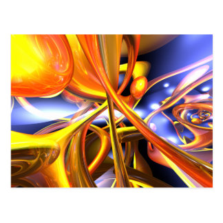 Vibrant Love Abstract Postcard