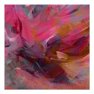 """Vibrant Magenta """"Treasure"""" Mixed Media Overlay Poster"""