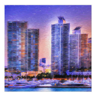 Vibrant Miami Skyline Sunrise