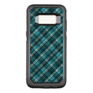 Vibrant & Modern Teal Plaid Pattern OtterBox Commuter Samsung Galaxy S8 Case