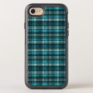 Vibrant & Modern Teal Plaid Pattern OtterBox Symmetry iPhone 7 Case