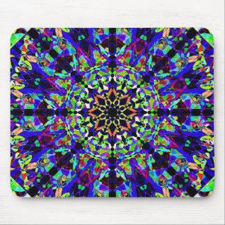 Vibrant Mosaic Mandala Mouse Mat