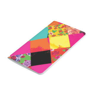 Vibrant Multi-Color Patchwork Pattern Boho-Chic Journal