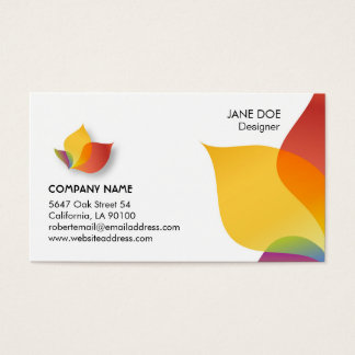 Vibrant Multicolor Business Card