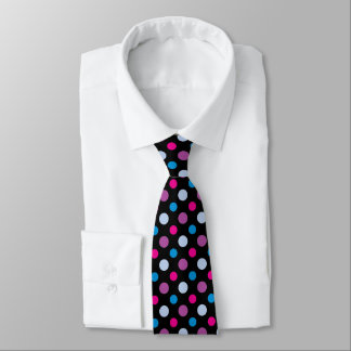 Vibrant Multicolored Polka Dots Pattern Tie