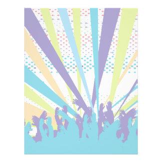 vibrant music concert party vector design 21.5 cm x 28 cm flyer