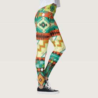 Vibrant Native American Design Leggings