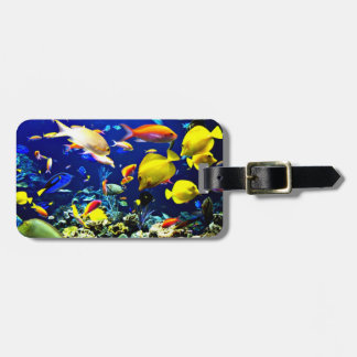 Vibrant Ocean Life Template Luggage Tag