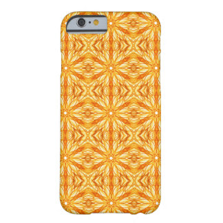 Vibrant Orange and Yellow Fractal Barely There iPhone 6 Case