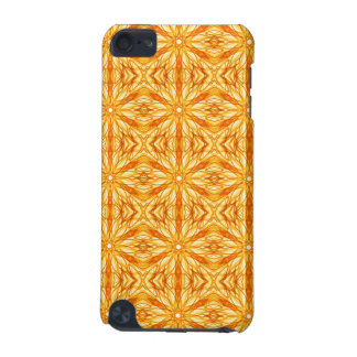 Vibrant Orange and Yellow Fractal Pattern iPod Touch 5G Cases
