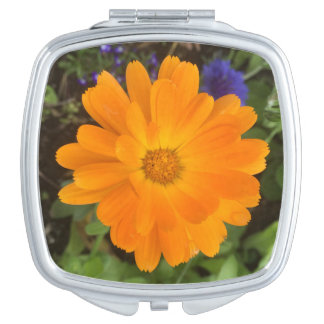Vibrant Orange Dahlia Flower Mirror