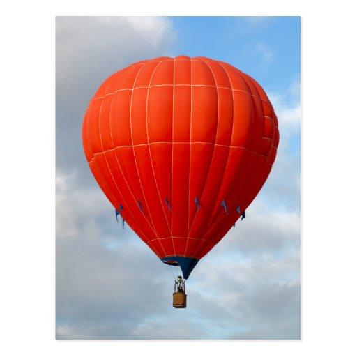 Vibrant Orange Hot Air Balloon Postcard