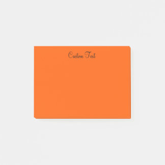 Vibrant Orange Post-it Notes