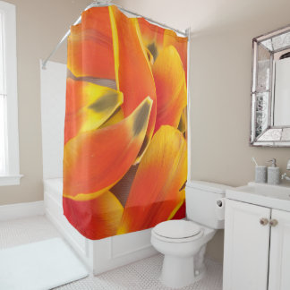 Vibrant Orange Tulip Petals Photograph Shower Curtain