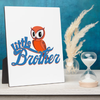 Vibrant Owl Little Brother Photo Plaques