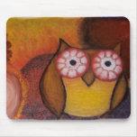 Vibrant Owl Mousepad