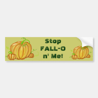 Vibrant Painted Pumpkins Car Bumper Sticker