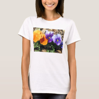 Vibrant Pansies T-Shirt