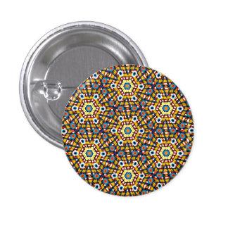 Vibrant peacock pattern button