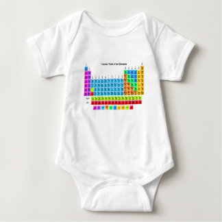 Vibrant Periodic Table Baby Bodysuit