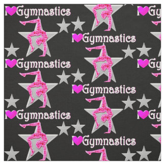 VIBRANT PINK AND BLACK GYMNASTICS FABRIC