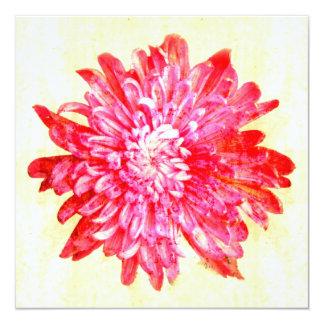 Vibrant pink chrysanthemum flower card