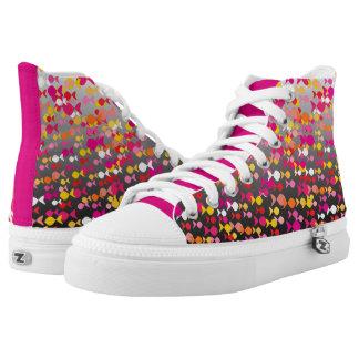Vibrant Pink Fish Pattern Cheerful Dramatic Bold Printed Shoes