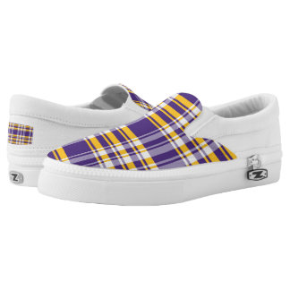 Vibrant plaid pattern Slip-On shoes