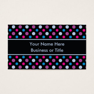 Vibrant Polka Dots Pattern Personalized Business Card