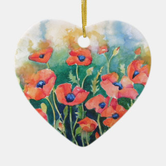 Vibrant Poppies Christmas Ornament