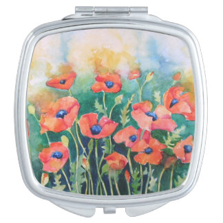 Vibrant Poppies Mirrors For Makeup