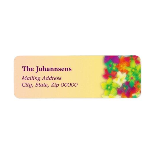 vibrant pua ~ mailing label return address label