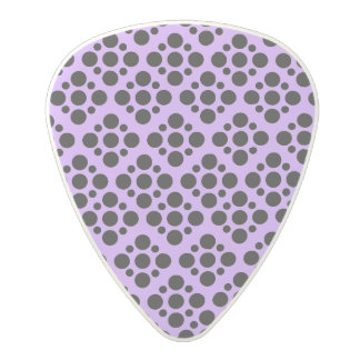 Vibrant Purple and black polka dot pattern Polycarbonate Guitar Pick