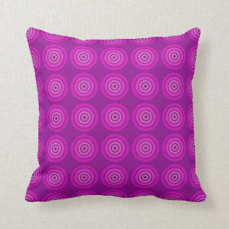 Vibrant purple cushion with lighter purple circles