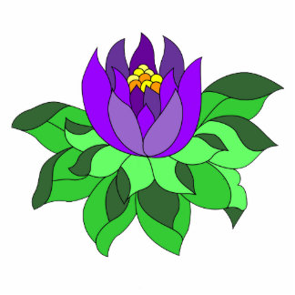 Vibrant Purple Lotus Flower  Photo Cutouts