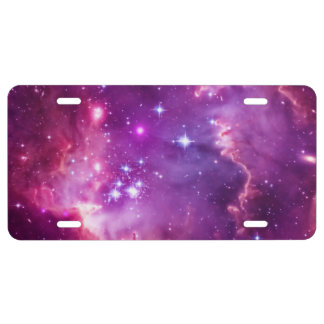 Vibrant Purple Tinted Small Magellanic Cloud License Plate