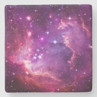 Vibrant Purple Tinted Small Magellanic Cloud Stone Coaster
